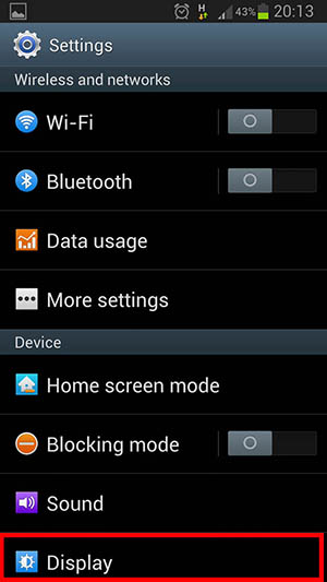 installing font Khmer on Android Phone settings go display