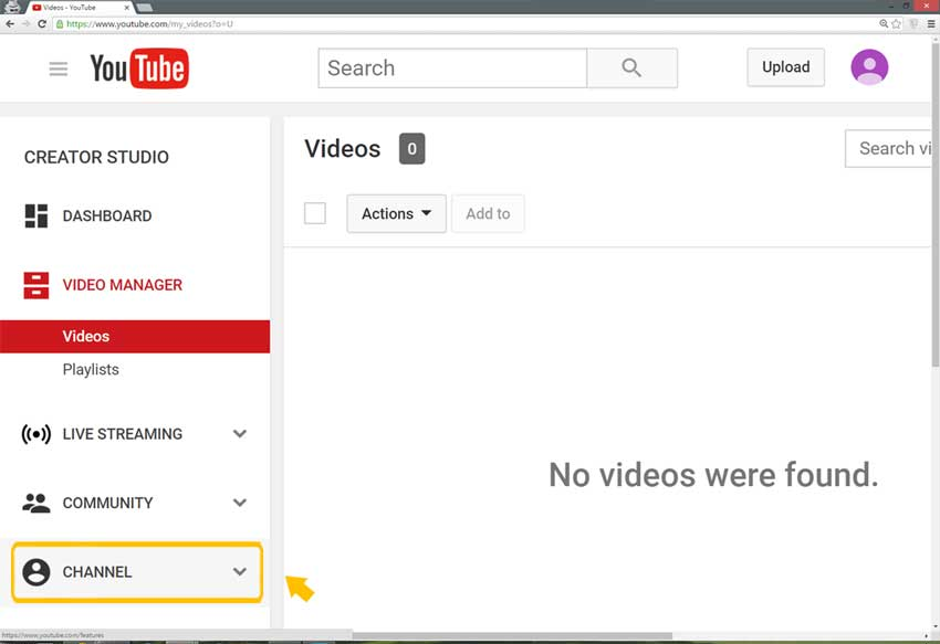 Verify your YouTube channel step 2