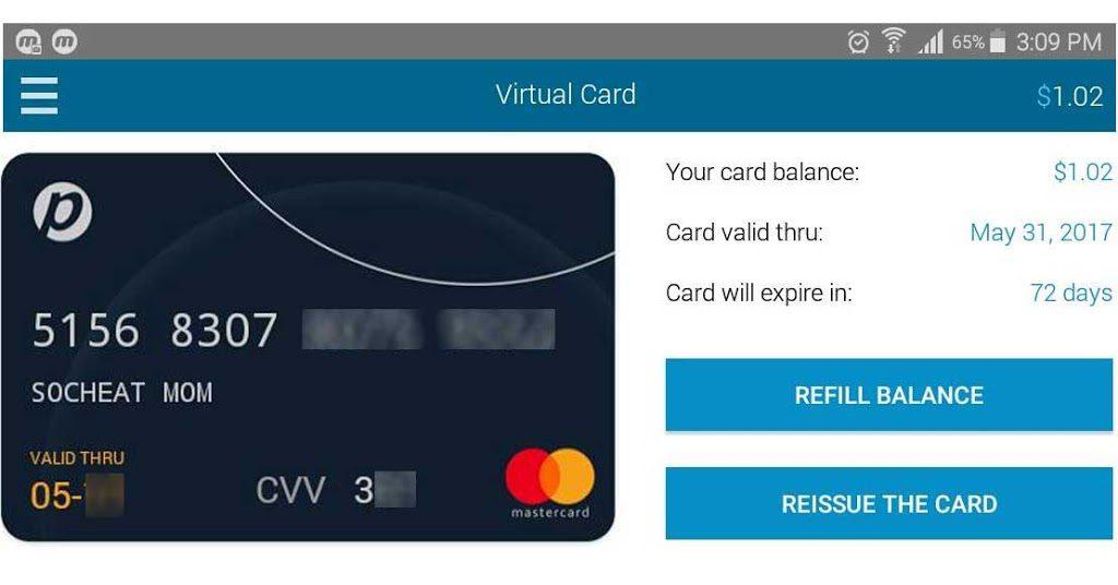 free virtual MasterCard