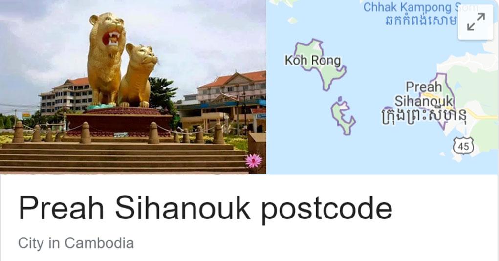 Preah Sihanouk Province postcode - Preah Sihanouk Zip code
