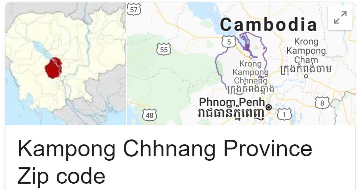 Kampong Chhnang Province Zip code
