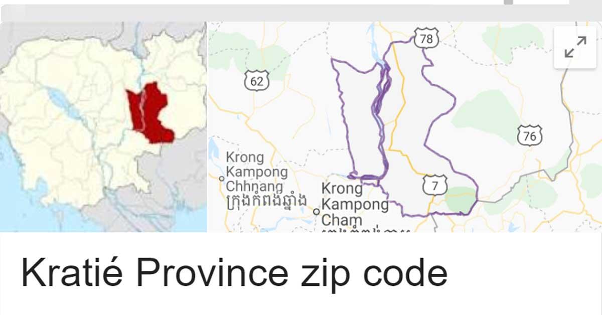 Kratié Province zip code