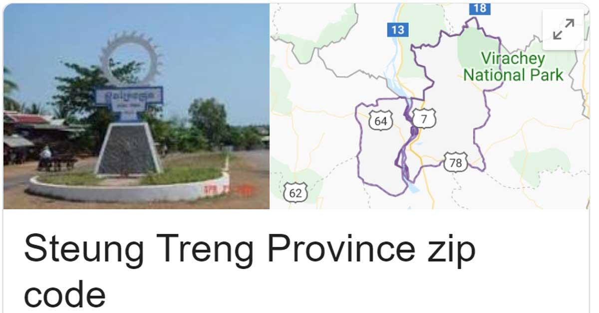 Steung Treng Province zip code