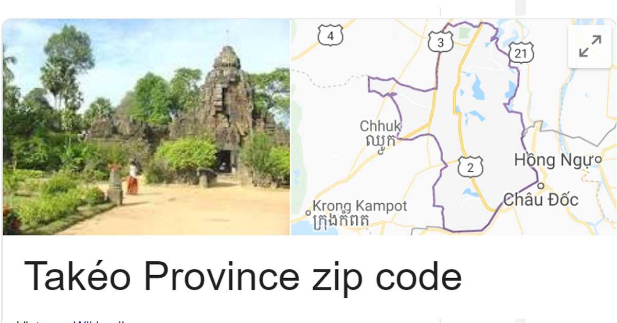 Takéo Province zip code
